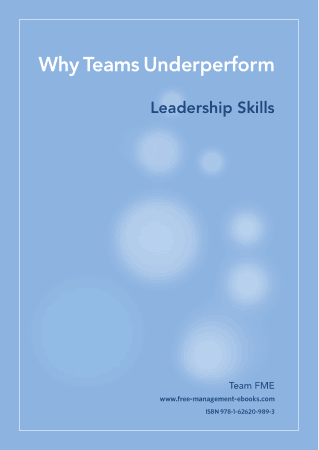 Why Teams Underperform Leadership Skills Book, Download Free Templates