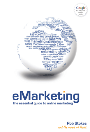 eMarketing Textbook Book, Free Vector