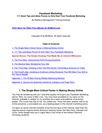 facebook-marketing Book, Download Free Templates