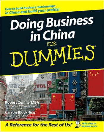 Doing Business In China For Dummies Book Free Templates