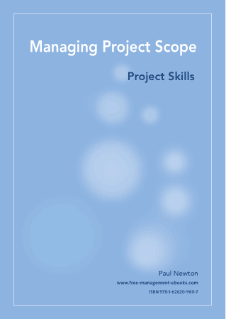 Managing Project Scope Project Skills Book Free Templates