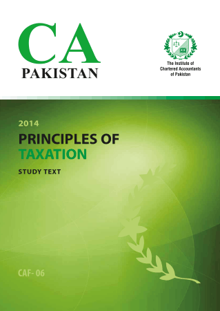 Principles of Taxation Study text ICAP Book Free Templates