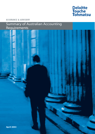 Summary of Australian Accounting Requirements Book Free Templates